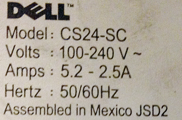 Dell CS24-SC sticker, it's an authentic!